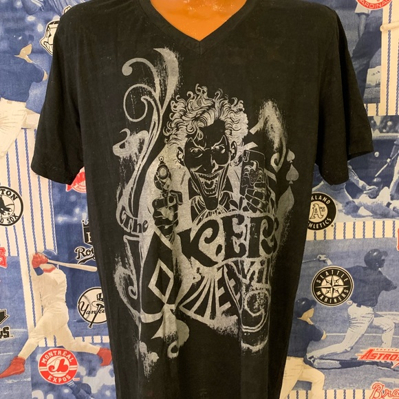a78f06670 Shirts | Batmans The Joker Graphic Vneck Tshirt Size Xl | Poshmark